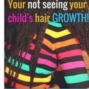 Long afro kids hair