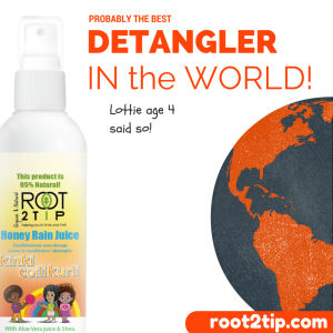 Kids curly hair detangler