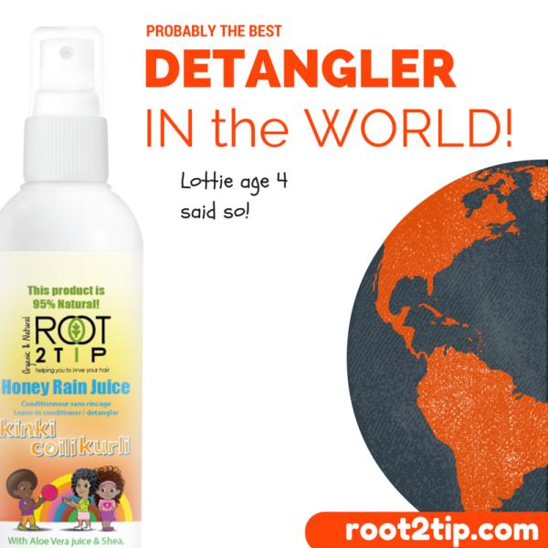 Mixed race & Afro hair detangler Honey rain Juice