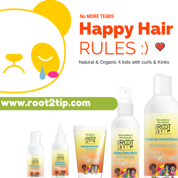 The Happy Hair Kit For kids with Mixed race hair and Afro hair.