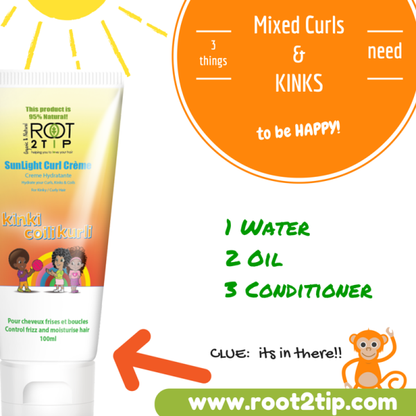 Natural Curly Creme for Frizzy curly kids'