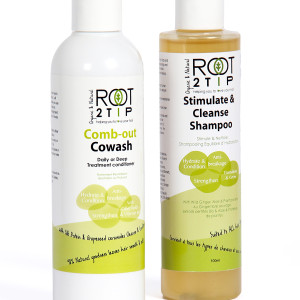Root2tip Sulphate free shampoo and Cowash set for curls and afro hair